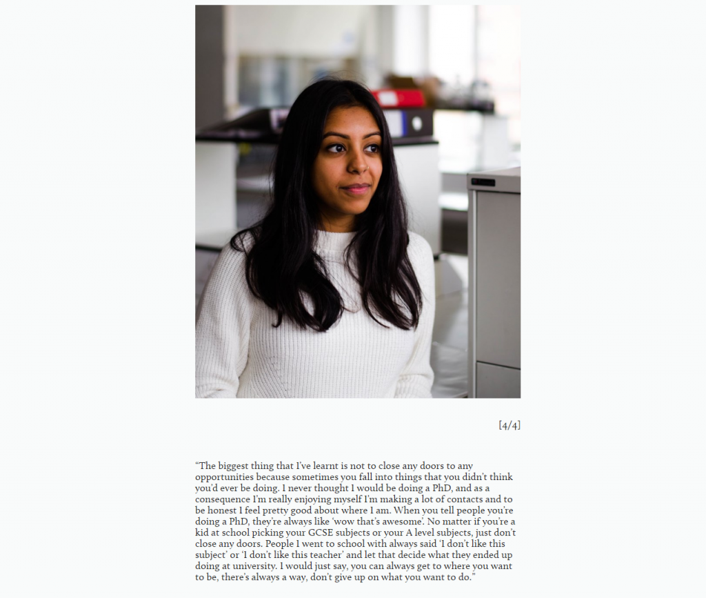 Neha is the first story on the website. Click to see what she says about being a materials scientist